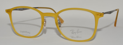 8734f75797 New Auth Eyeglasses Ray Ban Rb7051 5519 Lightray Opal Matte Yellow 49-20-140