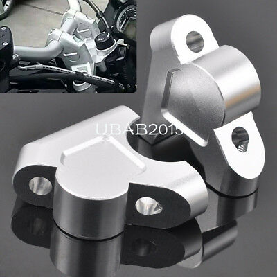 Pair CNC Handlebar Riser Higher Extend Adapter for BMW R1200GS 13-18 LC ADV 14up
