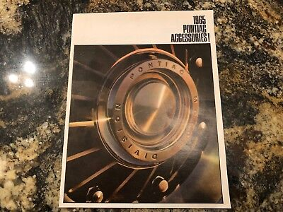 PONTIAC ACCESSORIES 1965 dealer brochure