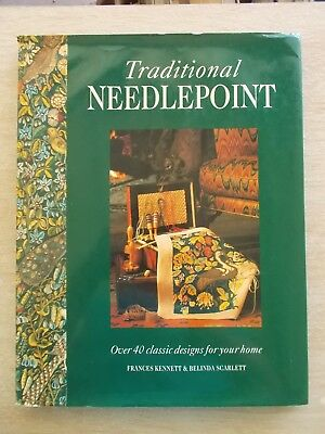 Traditional Needlepoint~40+ Projects~Patterns~128pp HBWC