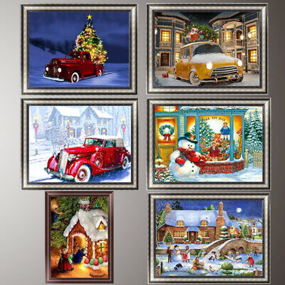 Christmas Scene 5D Diamond Painting DIY Embroidery Cross Stitch Home Decor Craft