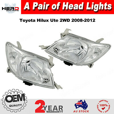 Head Light Lamps For Toyota Hilux Ute 2008-2012 2WD 4WD LH LHS RH RHS a pair