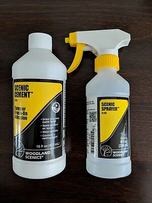 New Woodland Scenics Scenic Cement & Scenic Sprayer