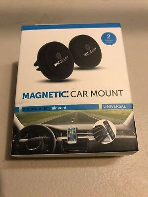 WizGear 2 Pack Stick On Dashboard Magnetic Car Mount Holder for all smartphones