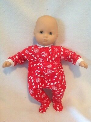 """15"""" Bitty Baby Christmas candy canes pjs sleeper pajamas Girl/boy Doll Clothes"""