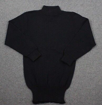 US Navy Department Vintage 50's Deck GOB 100% Wool Sweater Size 32