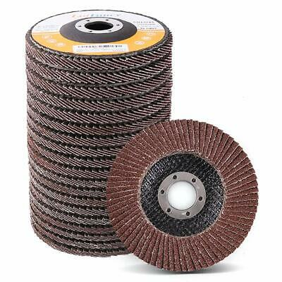 "30pc MIXED 4.5/"" 4-1//2/"" FLAP DISCS ANGLE GRINDER WHEELS 36 40 60 80 120 180 GRIT"