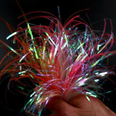 Tinsel Flat Glittering Crystal Flash Line Fly Tying Material Fishing Lure Baits