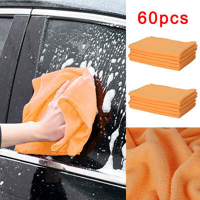 60 x LARGE MICROFIBRE CLEANING AUTO CAR DETAILING SOFT CLOTHS WASH TOWEL DUSTER