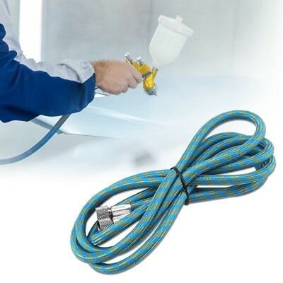 """HOT 1.8M Braided Airbrush Hose Compressor Air Tool 1/8"""" to 1/8"""" Adaptor Fitting"""