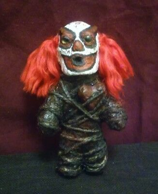 Mini Haunted Clown Doll,ooak,sideshow,oddity,bizarre,paranormal,active,mummified