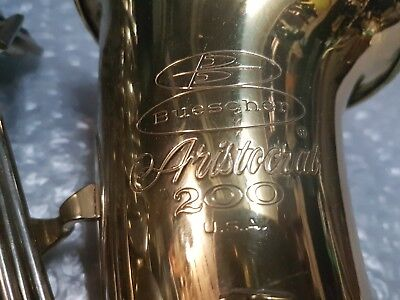 1980 BUESCHER ARISTOCRAT 200 ALT / ALTO SAX / SAXOPHONE - made in USA