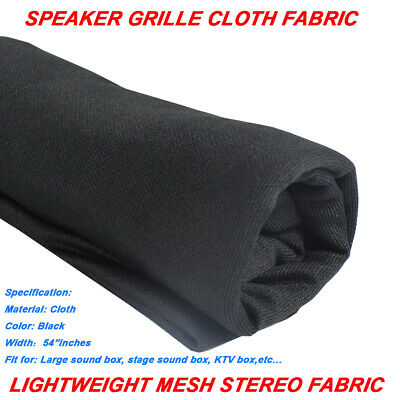 55Inch Wide Speaker Stereo Audio Subwoofer Cloth Grill Mesh Fabric Repair Black
