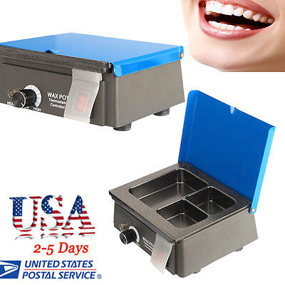 US 300W Analog Wax Heater Pot for Dental Lab equipment 3cell Container Equipment