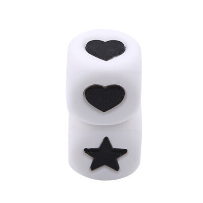 Trend Heart-Shaped Star Dice Beads Baby Silicone Teether Pacifier Chain Toys NB