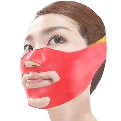 Silicone Thin Face Mask 3D V-line Lift Face Bandage Belt Slimming Facial LE