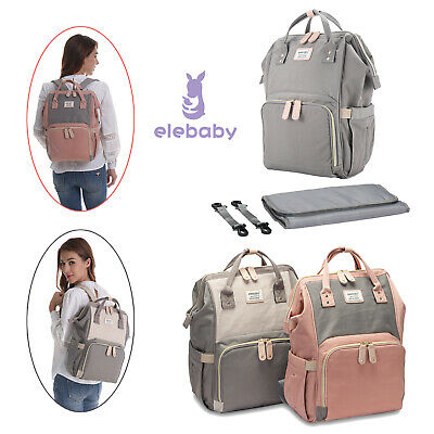 UK Baby Diaper Nappy Changing Bag Maternity Mummy Backpack Yummy Large Rucksack