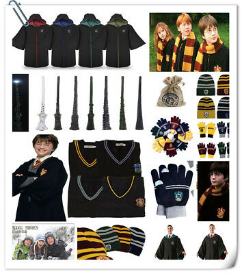 Harry Potter Robe Cloak Cape Vest TieGryffindor/Slytherin/Hufflepuff/Ravenclaw