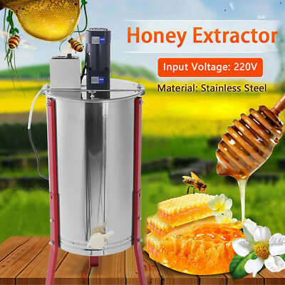 3 Frame Electric Honey Extractor Separator Stainles Steel Honeycomb Spinner Drum