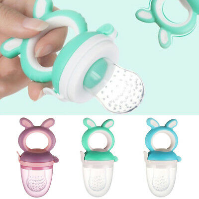 Baby Food Feeding Pacifier Feeder Soother Weaning Dummy Nipple Teether Funny