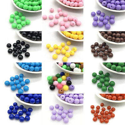 Wholesale Economical 4mm 6mm 8mm DIY Acrylic Round Loose Spacer Beads DIY hot