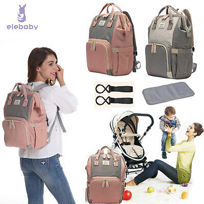 Baby Diaper Nappy Changing Mummy Bag Rucksack Hospital Maternity Large Backpack