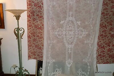 Lace Net Cover - Huge Vintage French - Net Lace Cotton Cover
