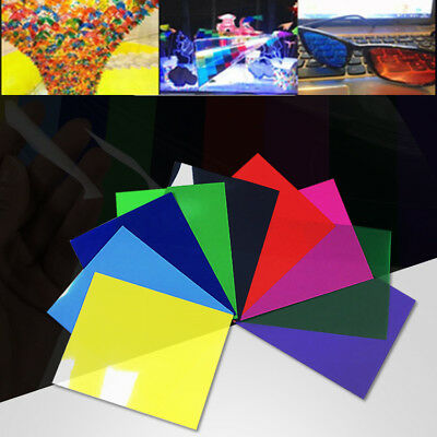 Colored Acetate Sheet Transparent Clear OHP Crafts Office Scrapbooking Film 5XA4