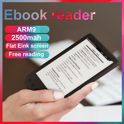 "6"" Electronic Ink Screen Digital Ebook Reader Built In 8GB Support 32G TF Card X"