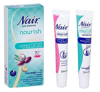 Nair Hair Remover Upper Lip Kit Natural Argan Oil