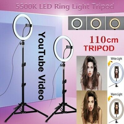 "10"" Dimmable LED Ring light Lighting Kit Makeup Youtube Live Beauty Photograph"