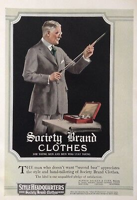 1919 Ad(H19)~Alfred Decker & Co. Nyc. Society Brand Mens Clothes