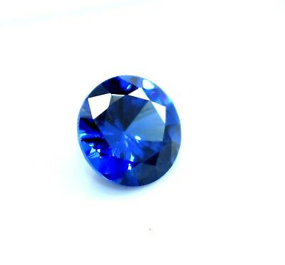 6.30 CT Ggl Certified Round Shape Natural Blue Sapphire Gemstone X~Mas offer