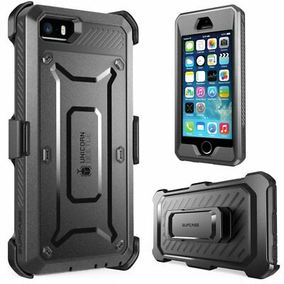 For iPhone SE Case, SUPCASE Full-body Rugged Holster Case with Screen Protector