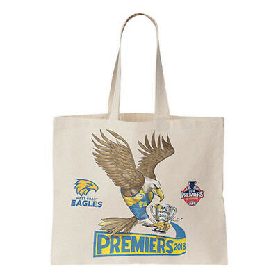 West Coast Eagles AFL Premiers Mark Knight Canvas Tote Shopping Bag