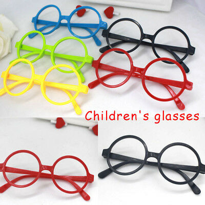 1x Children Kids Glasses Round No Lens Free Frames Costume Party Decorate Fancy