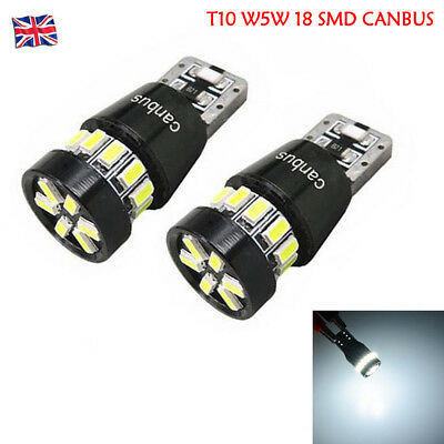 T10 W5W 24 Smd 3014 Led Error Free Canbus Powerful Led Side Light Bulb White
