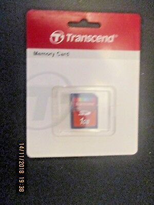 Genuine 1Gb Transcend Sd Memory Card - Uk Seller