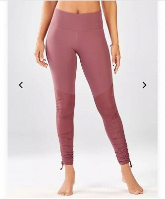 b87838923af35 Womens Small Fabletics Cashel Leggings Mauve Rouge Red Pink Drawcord