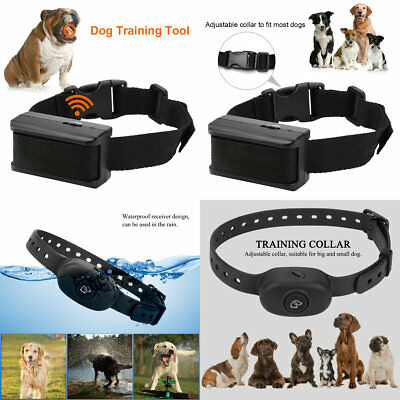 Pet Dog Training Collar  Electric Remote Rechargeable Waterproof  Black