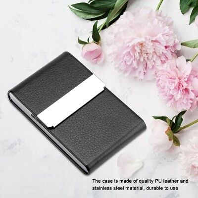 Cigarette Case Tobacco Holder Pocket Box Storage Stainless Steel PU Smoking Case