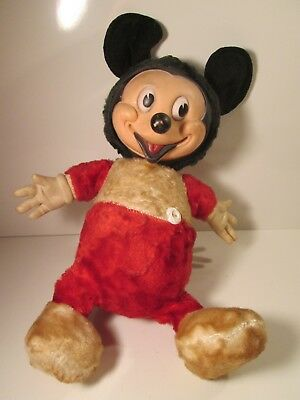 RARE Vintage Swedlin Gund Mickey Mouse Plush Doll Used to Talk