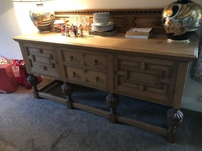 Antique oak carved sideboard By Mastercrafts Man Marsh, Jones and Cribb