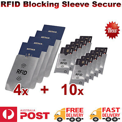 RFID Blocking Sleeve Secure Credit Card ID Passports Protector Anti Scan Safet