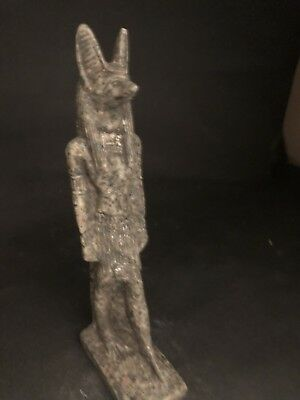 Rare Ancient Egyptian Granite Anubis Statue(c.3100-c.2890 BC)