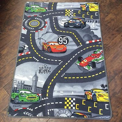 Kids Disney Race Car 2 Playmat Non-Slip Nursery Rug Cars Road Mat 80x120cm Gift