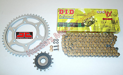Suzuki DL650 VStrom DID Gold X-Ring Chain & JT RB Front & Rear Sprockets Kit Set
