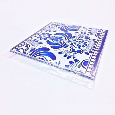 10Pcs/Set Chinese Blue And White Porcelain Design Self Adhesive Tile Stickers UM