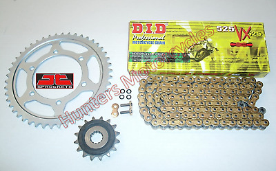Suzuki SV650 DID Gold X-Ring Chain & JT RB Front & Rear Sprockets Kit Set