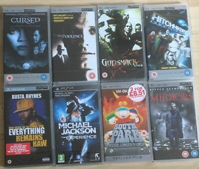 Joblot 8x New Sony PlayStation Portable PSP Sealed UMD Bundle Movies VIDEO/MUSIC